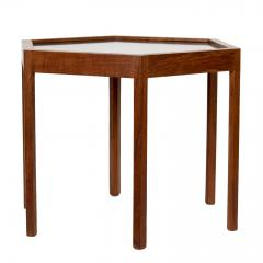 Hans C Andersen Mid Century Danish Modern Teak Hexagon Side Table Hans C Andersen - 1595101