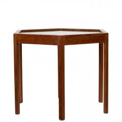 Hans C Andersen Mid Century Danish Modern Teak Hexagon Side Table Hans C Andersen - 1595102