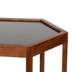 Hans C Andersen Mid Century Danish Modern Teak Hexagon Side Table Hans C Andersen - 1595103