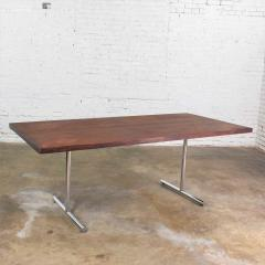Hans Eichenberger Omega dining table in rosewood chrome attributed to hans eichenberger - 1609045