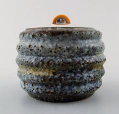 Hans Hansen Unique marmalade jar of bluish glazed stoneware with lid - 1313592