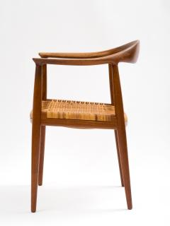 Hans J Wegner Hans J Wegner Round Chair In Teak With Cane Seat   392968