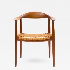 Hans J Wegner Hans J Wegner Round Chair In Teak With Cane Seat   393089