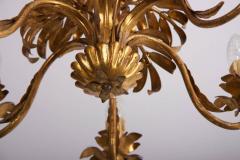 Hans K gl Gilt Metal Palm Tree Leaf Chandelier Attributed to Hans Ko gl - 544780