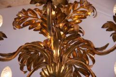 Hans K gl Gilt Metal Palm Tree Leaf Chandelier Attributed to Hans Ko gl - 544782