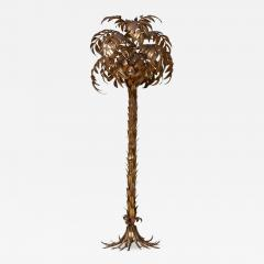Hans K gl Huge Gilt Metal Palm Tree Floor Lamp by Hans K gl - 703644