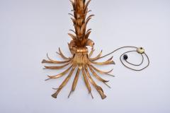Hans K gl Huge Vintage Golden Palm Tree Floor Lamp by Hans K gl circa 1980s - 1018012
