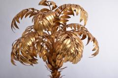 Hans K gl Huge Vintage Golden Palm Tree Floor Lamp by Hans K gl circa 1980s - 1018015