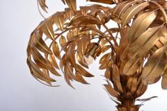 Hans K gl Huge Vintage Golden Palm Tree Floor Lamp by Hans K gl circa 1980s - 1018016