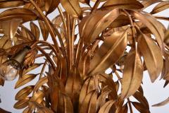 Hans K gl Huge Vintage Golden Palm Tree Floor Lamp by Hans K gl circa 1980s - 1018017
