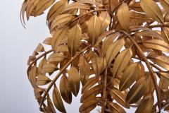 Hans K gl Huge Vintage Golden Palm Tree Floor Lamp by Hans K gl circa 1980s - 1018018