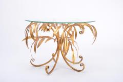 Hans K gl Mid Century Golden Palm Tree Side Table by Hans K gl 1960s - 1090816