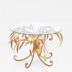 Hans K gl Mid Century Golden Palm Tree Side Table by Hans K gl 1960s - 1091084