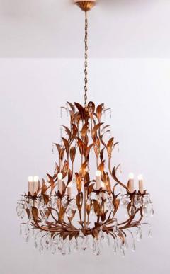Hans K gl Very Huge Gilt Metal and Crystal Glass Chandelier in the Manner of Hans K gl - 553131