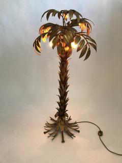 Hans K gl Vintage Golden Palm Tree Floor Lamp by Hans K gl circa 1970 - 1017590