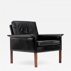 Hans Olsen Danish Leather and Rosewood Lounge Chair by Hans Olsen - 1461975