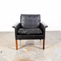 Hans Olsen Danish Leather and Rosewood Lounge Chair by Hans Olsen for CS Mobler - 1696085