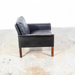 Hans Olsen Danish Leather and Rosewood Lounge Chair by Hans Olsen for CS Mobler - 1696086