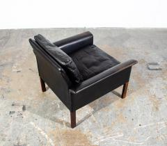 Hans Olsen Danish Leather and Rosewood Lounge Chair by Hans Olsen for CS Mobler - 1696087