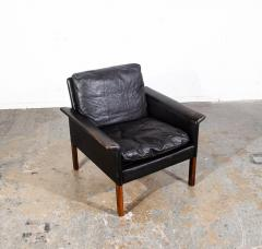 Hans Olsen Danish Leather and Rosewood Lounge Chair by Hans Olsen for CS Mobler - 1696088