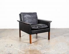 Hans Olsen Danish Leather and Rosewood Lounge Chair by Hans Olsen for CS Mobler - 1696128