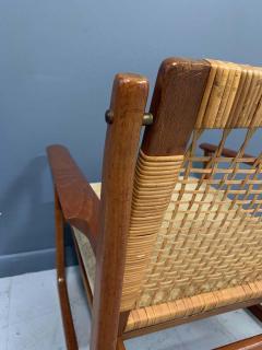 Hans Olsen Hans Olsen Teak and Cane Lounge Chair for Juul Kristensen Midcentury - 1761572