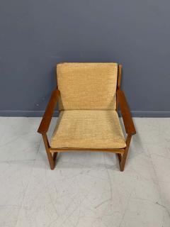 Hans Olsen Hans Olsen Teak and Cane Lounge Chair for Juul Kristensen Midcentury - 1761582