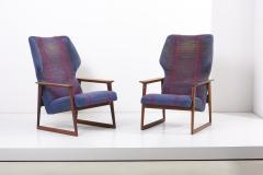 Hans Olsen Pair of Danish Lounge Chairs Denmark 1960s - 2077119