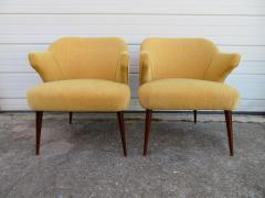 Hans Olsen Pair of Danish Modern Hans Olsen Style Teak Lounge Chair - 1646102