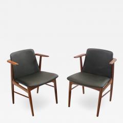 Hans Olsen Pair of Rare Scandinavian Modern Armchairs Designed by Hans Olsen - 1446430