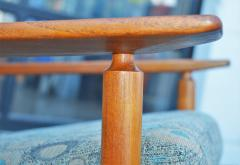 Hans Olsen Restored Teak Rocking Chair w Cane Back by Hans Olsen for Juul Kristiansen - 2058595