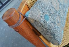 Hans Olsen Restored Teak Rocking Chair w Cane Back by Hans Olsen for Juul Kristiansen - 2058618