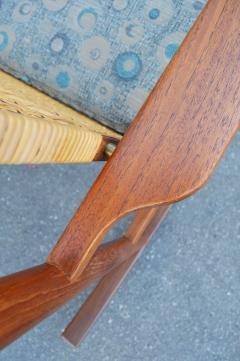 Hans Olsen Restored Teak Rocking Chair w Cane Back by Hans Olsen for Juul Kristiansen - 2058644