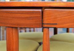 Hans Olsen Teak Hans Olsen Roundette Dining Set w 4 Three Legged Nesting Chairs - 2126634