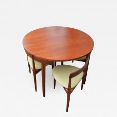Hans Olsen Teak Hans Olsen Roundette Dining Set w 4 Three Legged Nesting Chairs - 2127244
