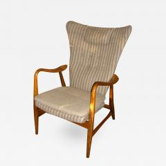 Hans Van de Bovenkamp Danish Modern Wingback Armchair by Bovenkamp - 216925