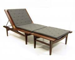 Hans Wegner 1960s Danish Daybed Chaise Longue By