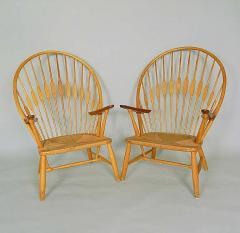 Hans Wegner 2 Vintage Peacock Chairs by Hans Wegner c 1960 - 136813