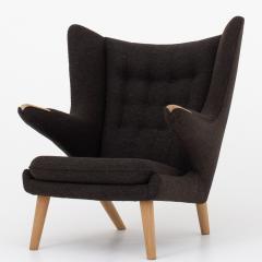 Hans Wegner AP 19 Papa Bear chair in brown wool - 952541