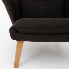Hans Wegner AP 19 Papa Bear chair in brown wool - 952544