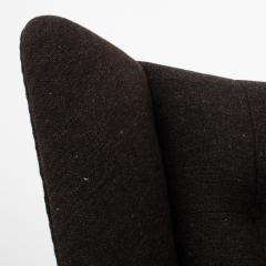 Hans Wegner AP 19 Papa Bear chair in brown wool - 952545