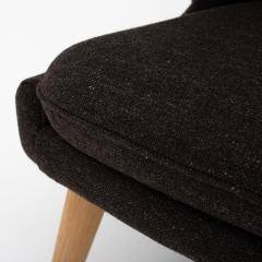 Hans Wegner AP 19 Papa Bear chair in brown wool - 952546