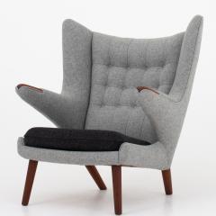 Hans Wegner AP 19 Papa Bear chair in grey wool - 952533