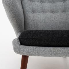 Hans Wegner AP 19 Papa Bear chair in grey wool - 952537