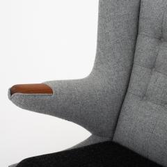 Hans Wegner AP 19 Papa Bear chair in grey wool - 952538