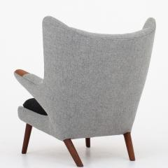 Hans Wegner AP 19 Papa Bear chair in grey wool - 952539