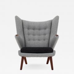 Hans Wegner AP 19 Papa Bear chair in grey wool - 952823