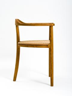 Hans Wegner American Studio Craft Tri Leg Chair in Oak with Woven Seat after Hans Wegner - 1090092