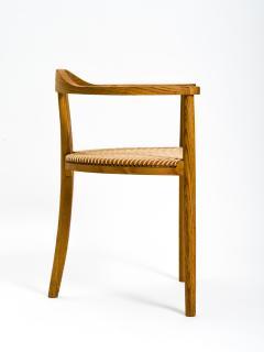 Hans Wegner American Studio Craft Tri Leg Chair in Oak with Woven Seat after Hans Wegner - 1090092