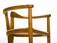 Hans Wegner American Studio Craft Tri Leg Chair in Oak with Woven Seat after Hans Wegner - 1090093